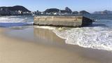 里约奥运 游泳台被浪冲走 选手从沙滩出发